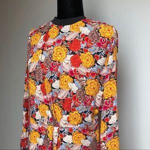 Zara Long Sleeve Floral Dress